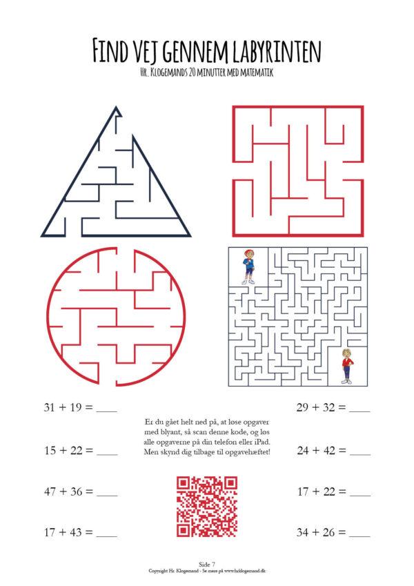 Matematik med Hr. Klogemand er sjove matematikopgaver for børn til print eller iPad. Der er mange forskellige uddybende opgaver i Hr. Klogemands matematik på abonnement i indskolingen. Det koster kun 79 kr. om måneden for et abonnement uden binding - der er 14 dages gratis prøveperiode. Med et abonnement er der sjove matematikopgaver til 20 minutter om dagen hjemme efter skole, i weekenden eller i ferien. Det bliver sjovt at lave matematik med familen. Lav skæg med matematik, få hjælp til matematik og bliv god til matematik. Hr. Klogemand er brugt af over 4000 lærere over hele Danmark og i 20+ lande. I udlandet hedder Hr. Klogemand Mr. Cleverman. Matematik app og online matematik quiz er også en del af abonnementet. Hr. Klogemand 20 Minutter Med Matematik. Hjemmeundervisning. Labyrint. addition. plus.