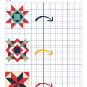 spejling af mosaik og matematik fra hr. klogemand