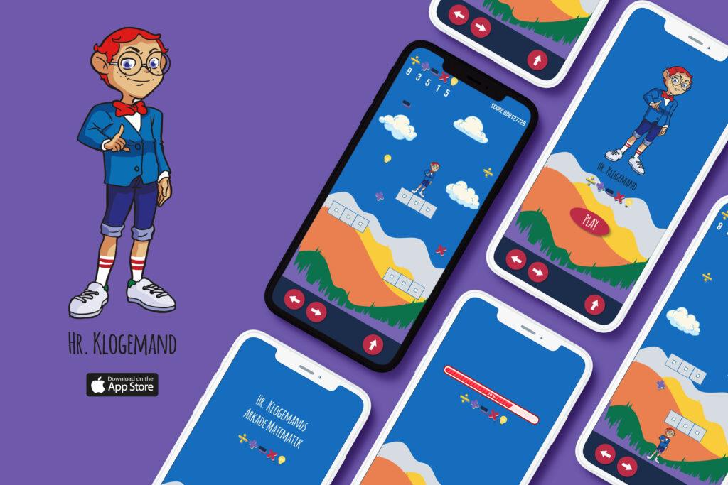 Hr. Klogemands matematik app til ios og android